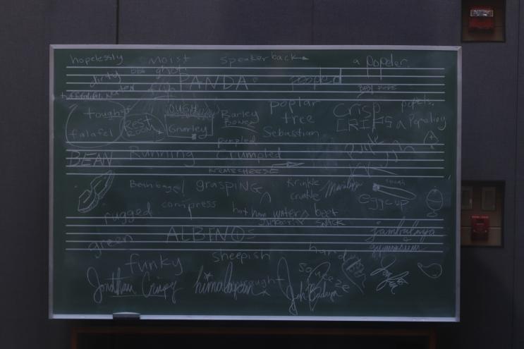Sound Studio Chalkboard